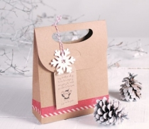Gift bag with tag