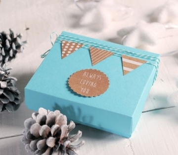 Cajita turquesa para galletas decoradas