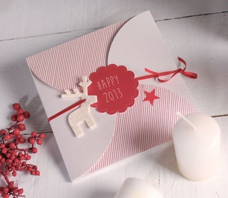 Envelope for Christmas greetings card
