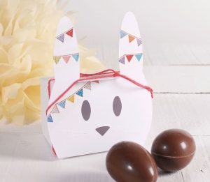 Cute bunny box for Easter