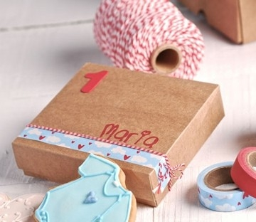 Square box for christenings