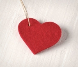 Felt Pendant - Heart