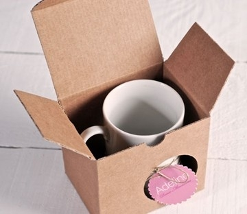 Caja de cartón para tazas