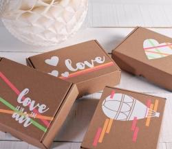 Romantische mit Vinyl-Aufkleber dekorierte Schachtel