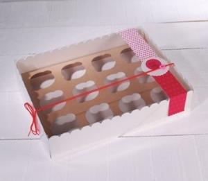 Caja de cartón para 12 cupcakes