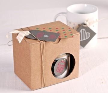 Caja para entregar tazas