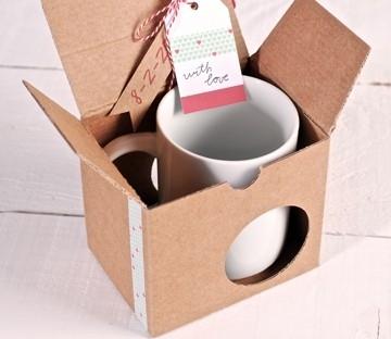 Caja para tazas con washi tape