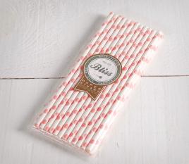 Polkadot paper straws