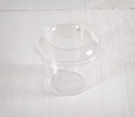 Vasito de plástico para helados con tapa