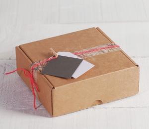Una caja para envíos que es un bonito regalo