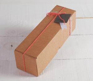 Idea decorativa para una caja de envíos