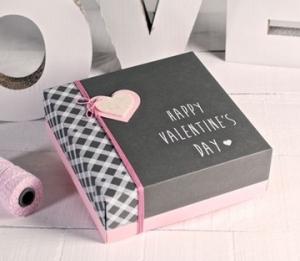 Caja impresa para San Valentín