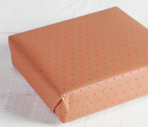 Polkadot wrapping paper