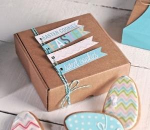 Selbstschließende Schachtel für Kekse