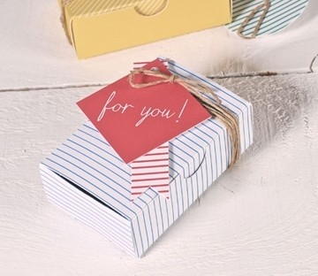 Printed box for business cards