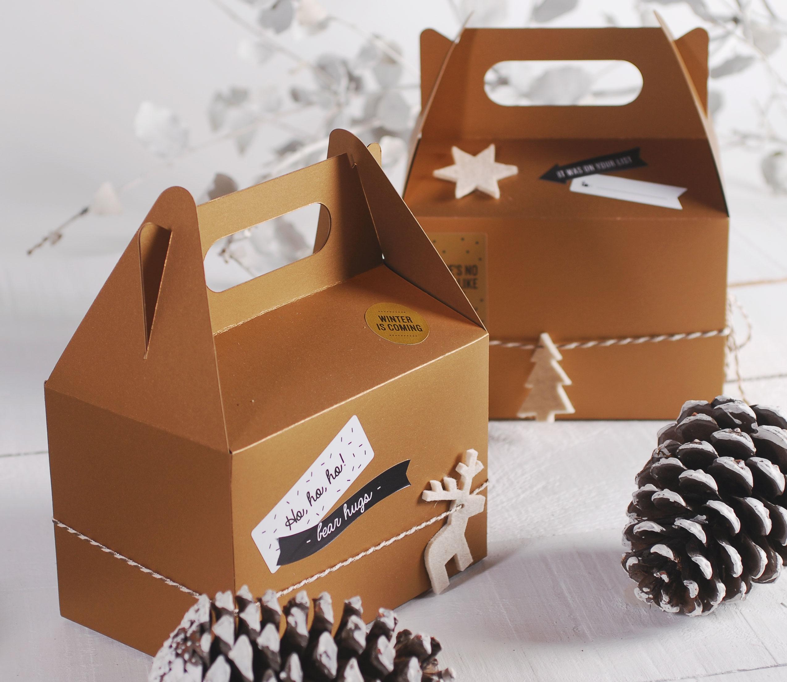 Cajas Regalo Para Navidad Selfpackaging ~ Cajas De Carton Decorativas Grandes