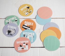 Etiquetas de embalaje circulares