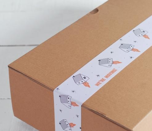 Nastro adesivo stampato per traslochi