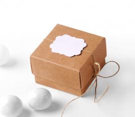 Caja cuadrada simple con tapa