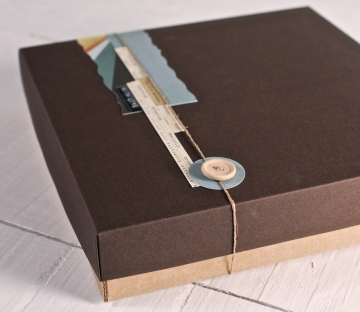 Caja personalizada para álbumes de fotos