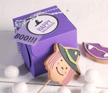 Caja para un cupcake Halloween