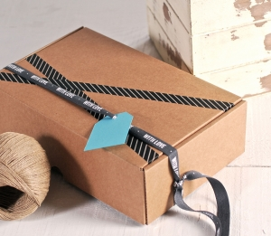 """Rectangular box with """"With Love"""" ribbon"""