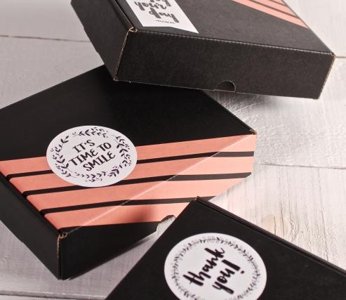 """Caja decorada con washi tape y pegatinas """"Happy"""""""