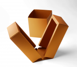 Caja cubeta con faja