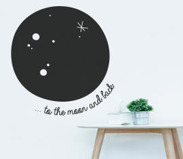 Vinilo para pared Luna