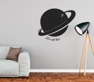 Decorative wall sticker with planet