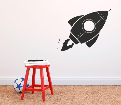 Vinilo Cohete para niños