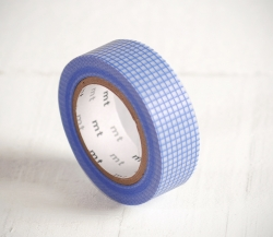 Washi tape of blue squares