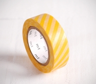 Washi tape con strisce gialle