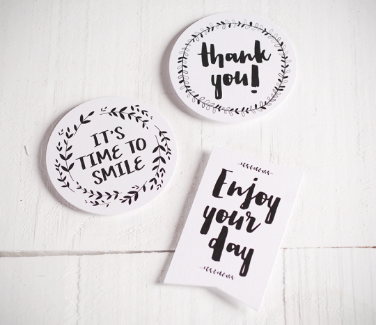 "Stickers for presents ""Happy"""