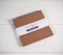 Kraftpapier-Karten 16,5 x 16,5 cm