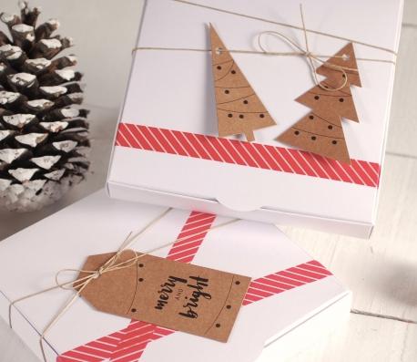 Cajita para Navidad, plana con complementos