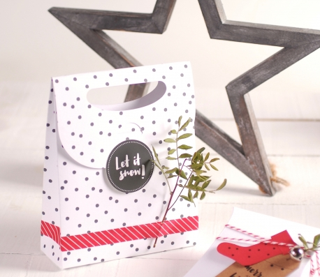 Bolsa regalo navideña decorada
