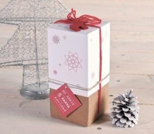 Caja para regalar botellas en Navidad