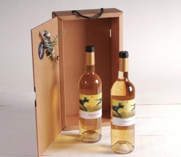 Caja navideña para regalar botellas