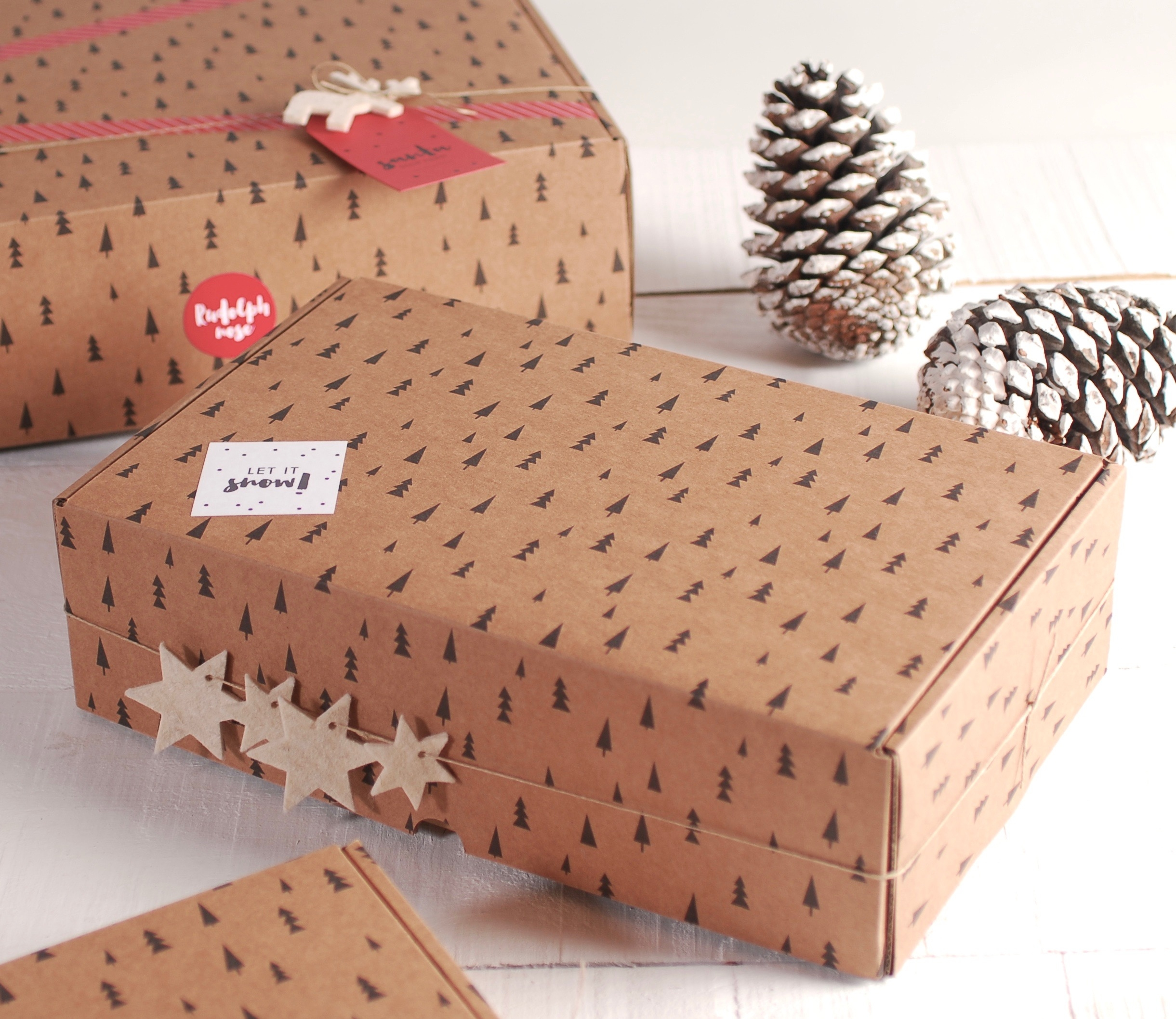 Caja Rectangular Automontable Sin Pedido M Nimo  ~ Cajas De Carton Decorativas Grandes