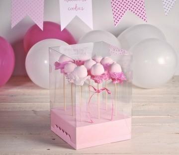 Cajas transparentes para cake pops