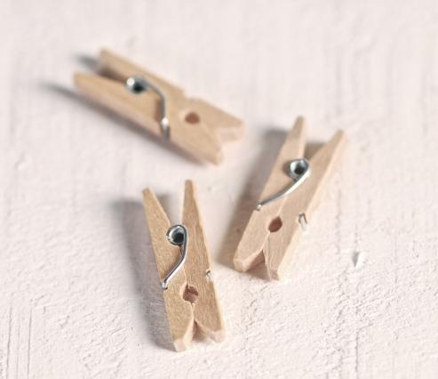 Mini Holzclips