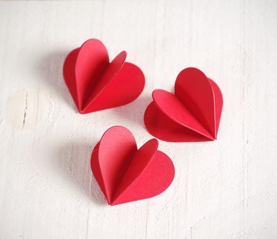 Corazón 3D de cartulina