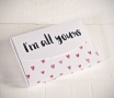 "Cajas impresas corazones ""All yours"""