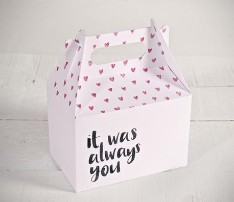 "Cajas impresas corazones ""Always you"""