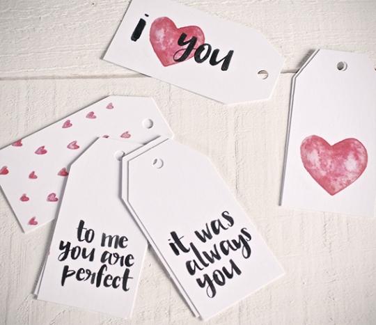 """Kit di 10 etichette regalo """"Love"""""""