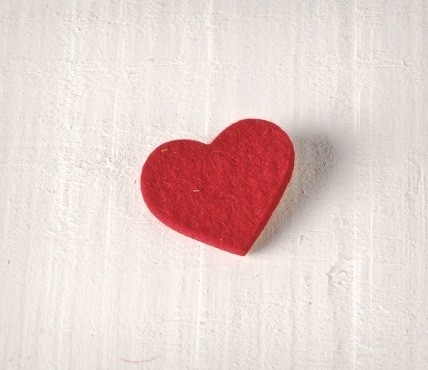 Corazón fieltro