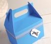 Caja picnic azul a cuadros