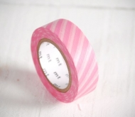 Pink and white stripped washi tape
