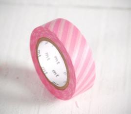 Washi tape rayas blancas y rosas